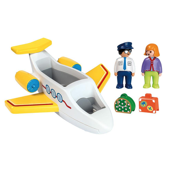 Playmobil 1.2.3 Plane with Passenger - PMB70185