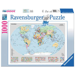 Ravensburger - Political World Map Puzzle 1000pc Jigsaw Puzzle