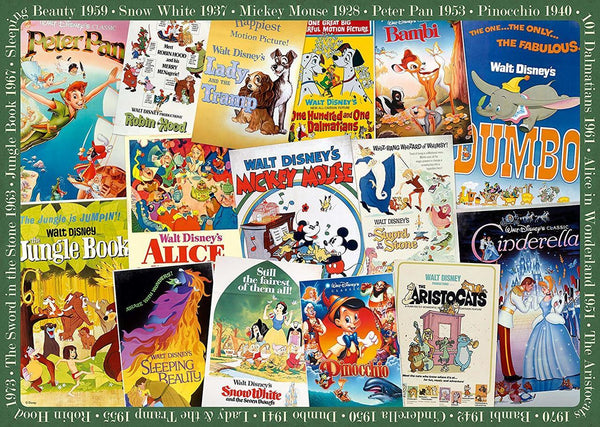 Ravensburger - Disney Vintage Movie Posters Puzzle 1000pc Jigsaw Puzzle