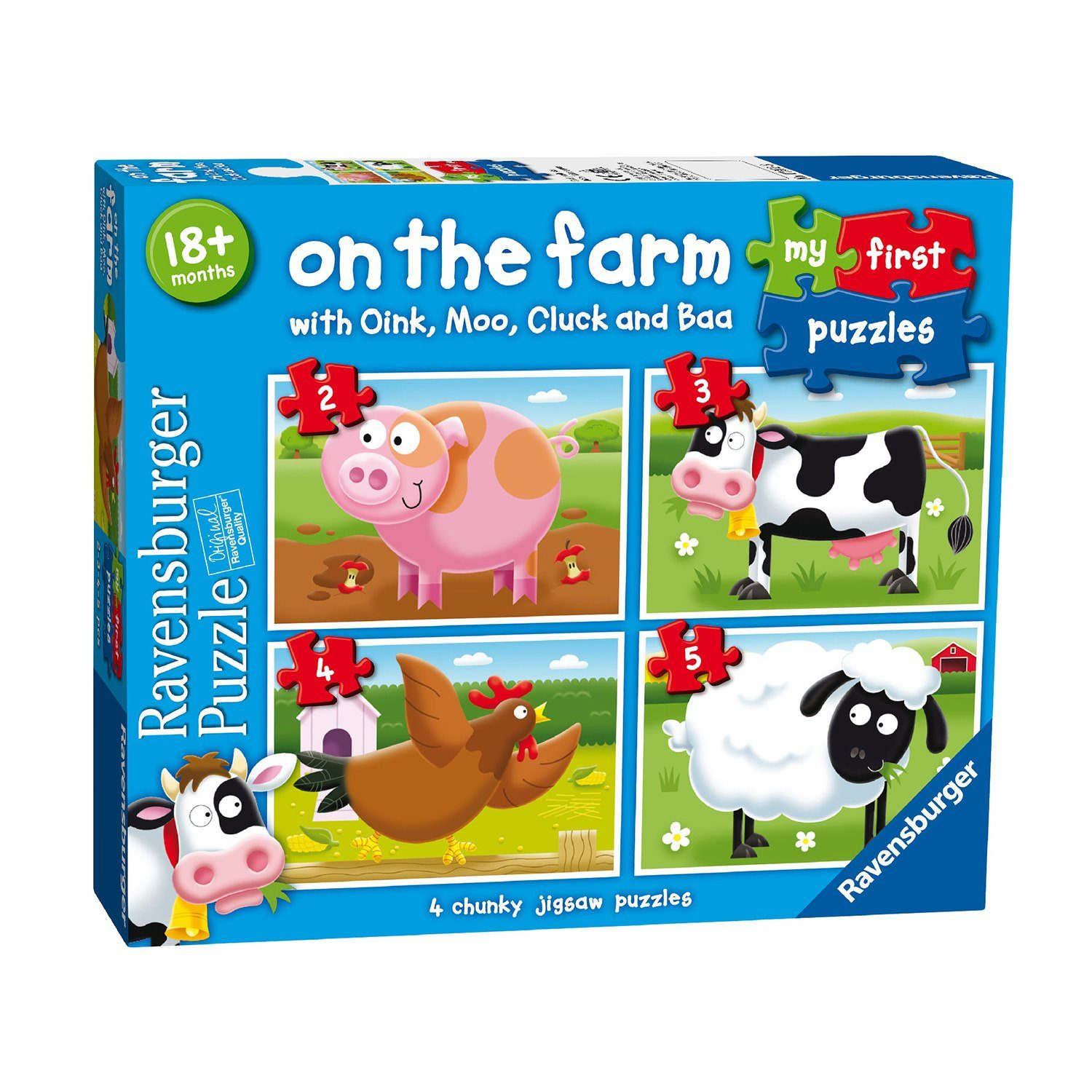 Ravensburger - On the Farm My First Puzzle 2 3 4 5 pieces Jigsaw Puzzle