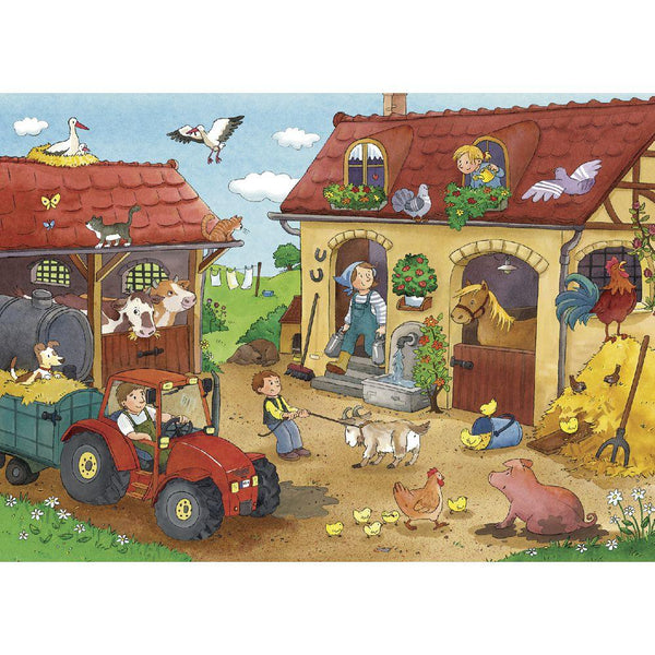Ravensburger - Working on the Farm Puzzle 2x12 pieces Jigsaw Puzzle
