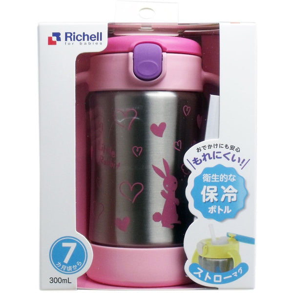 Richell -TLI Stainless Straw Bottle Mug