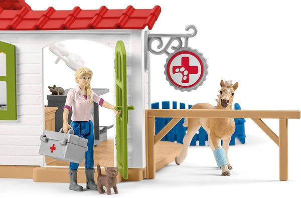 Schleich - Veterinarian practise with pets