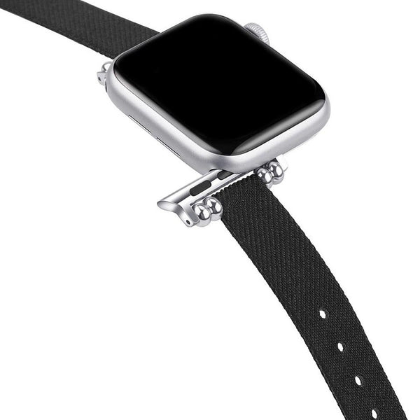 Canvas Black Petit Slim | Armband für Apple Watch (Schwarz)