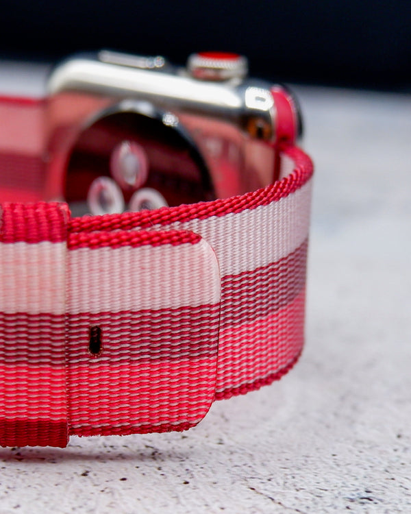 Canvas Berry Classic | Armband für Apple Watch (Rot)