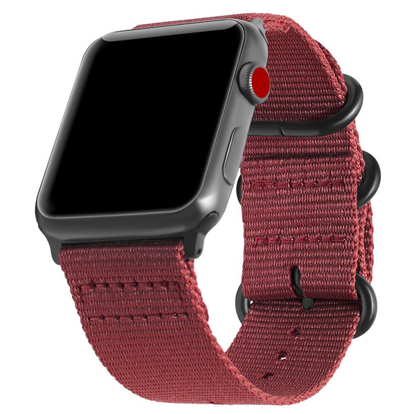 42/44mm Nylon Sportband - Rose Red - Double Buckle