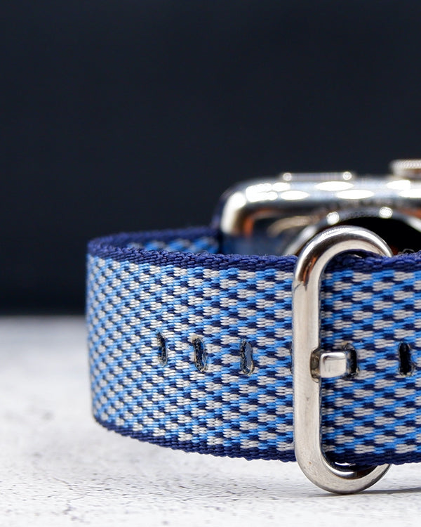 Woven Nylon Blue Check Classic | Armband für Apple Watch (Blau)