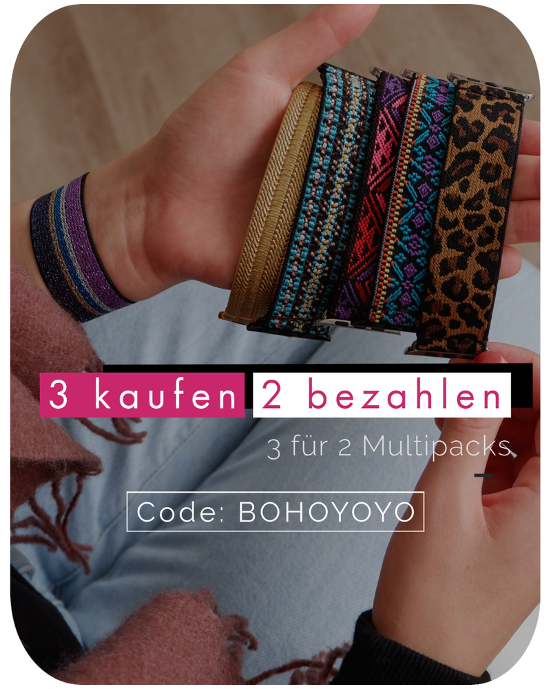 India | Boho Armband für Apple Watch (Blau)