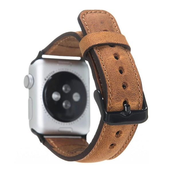 Antic Tan Brown Classic | Lederarmband für Apple Watch (Braun)