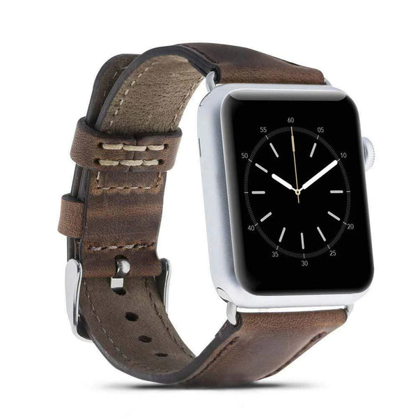 Antic Brown Classic | Lederarmband für Apple Watch (Braun)