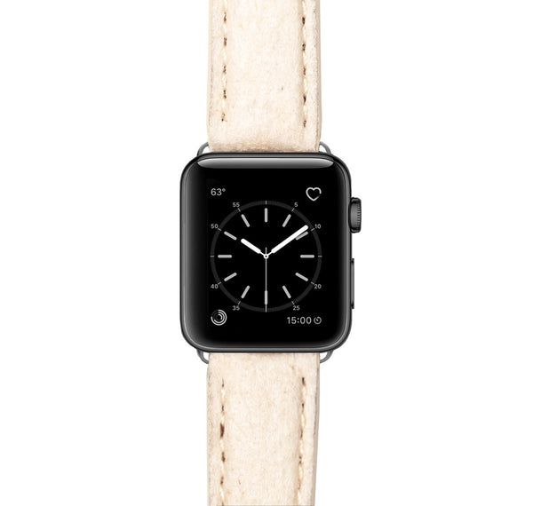 Pure Nature Veganes Leder Lederarmband Leder Band für Apple Watch 3, 4, 5. 40mm 44mm 38mm 42mm iWatch