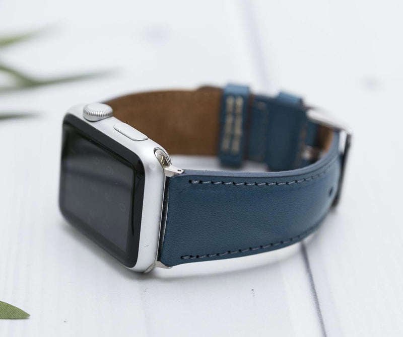 38/42/40/44mm Azura Blue Lederarmband