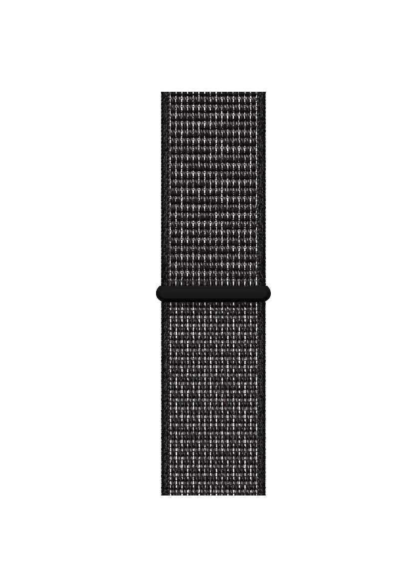 Sport Loop Armband für Apple Watch Black Schwarz Series 3 Series 4 Series 5 38mm 40mm 42mm 44mm