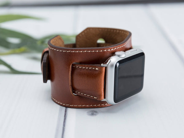 38/42/40/44mm Brown Cuff Lederarmband