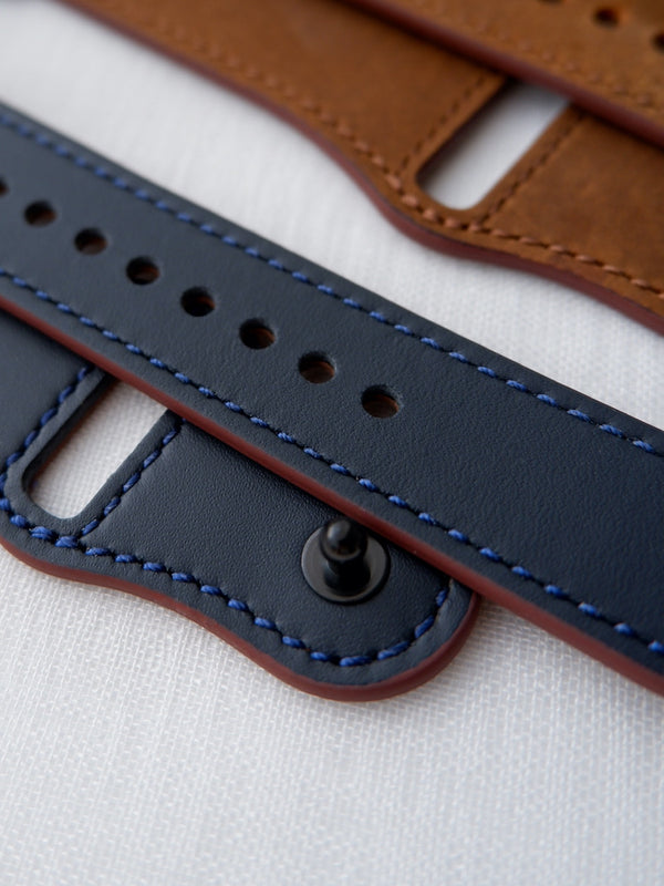 Midnight Blue Leather Loop | Lederarmband für Apple Watch (Blau)
