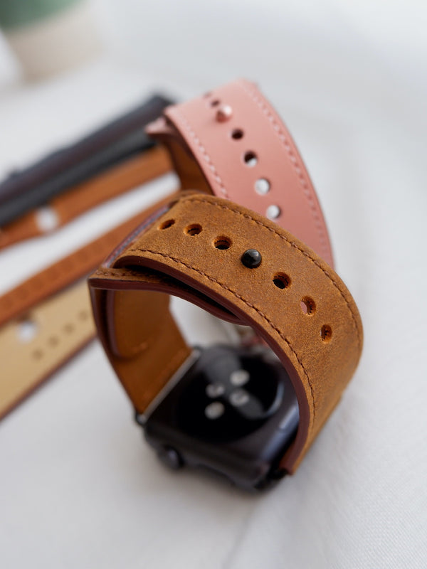 Casual Brown Leather Loop | Lederarmband für Apple Watch (Braun)