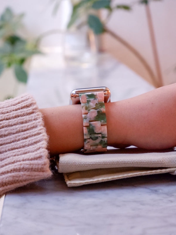 Floral Resin Classic | Armband für Apple Watch (Pink)