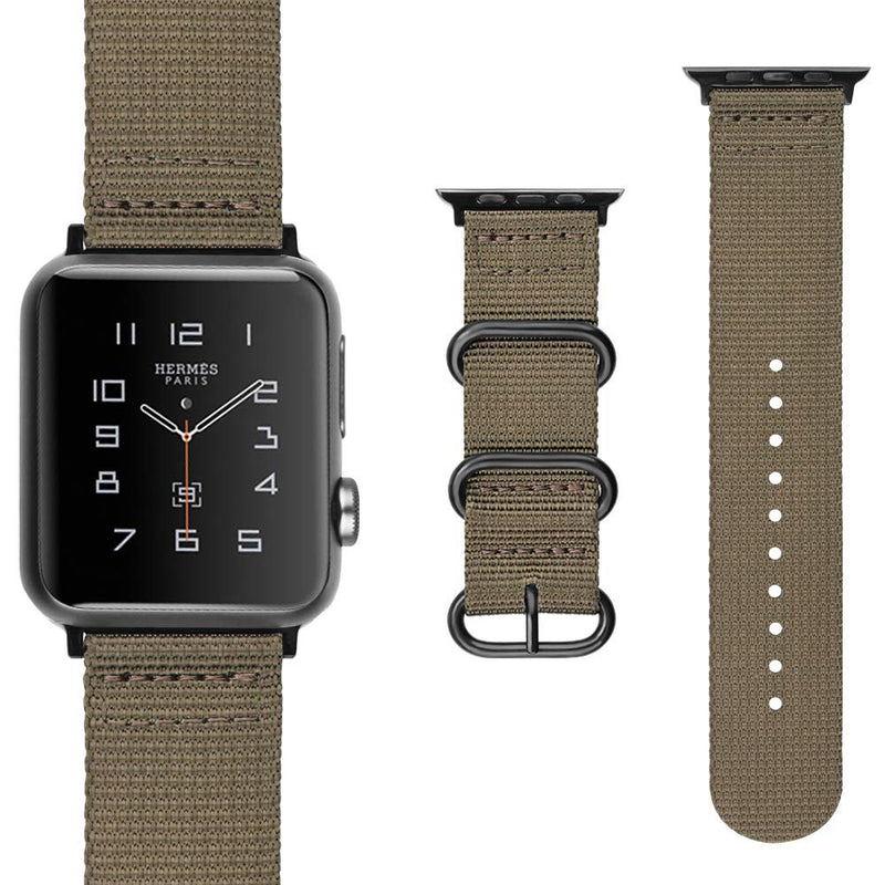 Sport Armband für Apple Watch Double Buckle Sand Braun Series 3 Series 4 Series 5 38mm 40mm 42mm 44mm