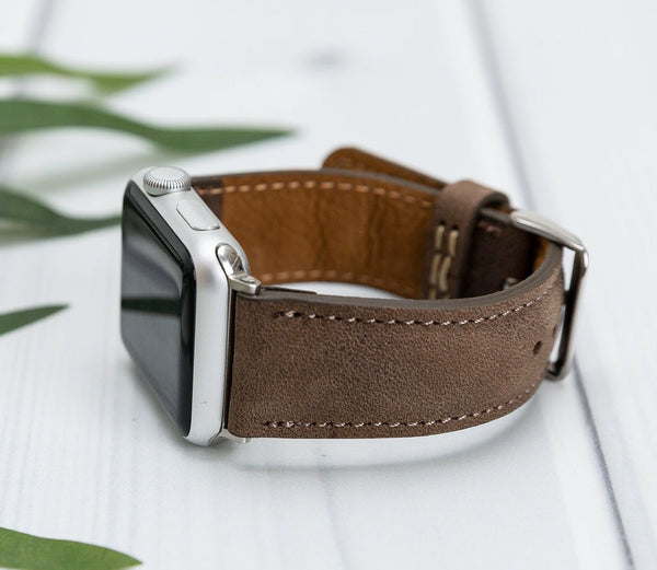 38/42/40/44mm Earthy Brown Lederarmband