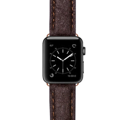 lederarmband fuer apple watch braun vegan Series 2, Series 3, Series 4, Series 5 38mm 40mm 42mm 44mm