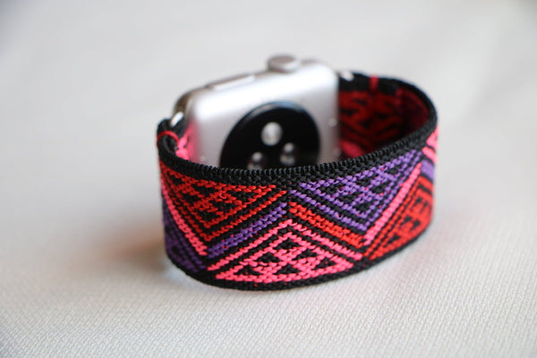 Ethnic Ruby Elastic Armband Band für Apple Watch 3, 4, 5. 44mm 42mm 38mm 40mm iWatch zubehör designer