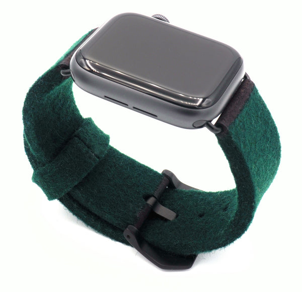 38/42/40/44mm Eco Armband aus Wolle - Forest Green