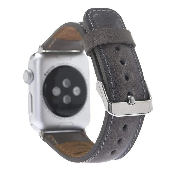 Grey Classic | Lederarmband für Apple Watch (Grau)