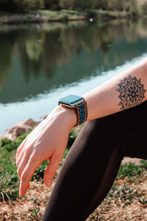 Blue Snow | Boho Armband für Apple Watch
