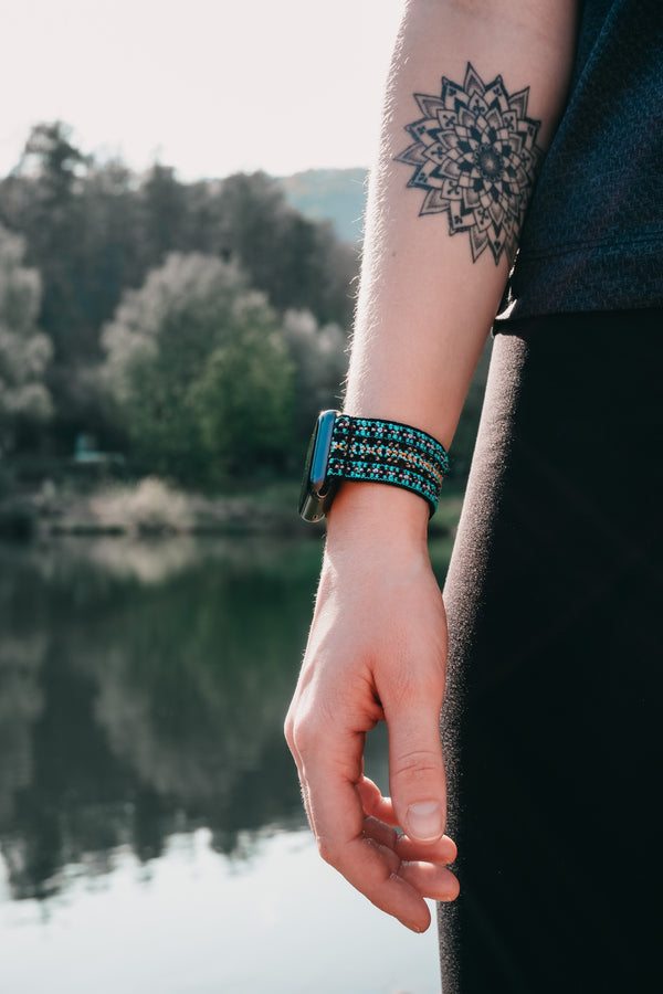 Blue Orchid | Boho Armband für Apple Watch
