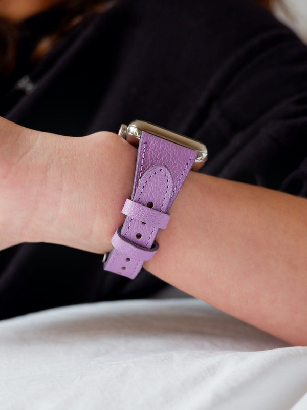 Lavender Slim | Lederarmband für Apple Watch (Lila)