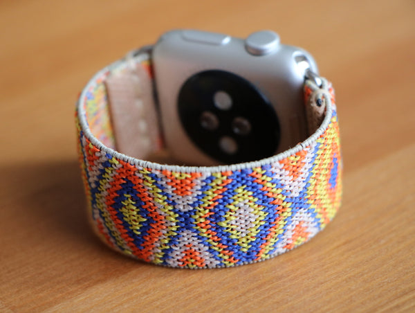 Armband für Apple Watch Gelb Orange Boho Series 2, Series 3, Series 4, Series 5 38mm 40mm 42mm 44mm
