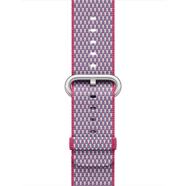 Woven Nylon Berry Check Classic | Armband für Apple Watch (Pink)