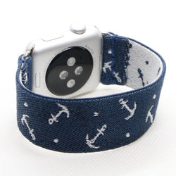 Nautical | Boho Armband für Apple Watch (Blau)