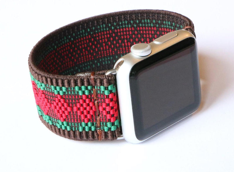 Armband für Apple Watch Rot Gruen Boho Series 2, Series 3, Series 4, Series 5 38mm 40mm 42mm 44mm