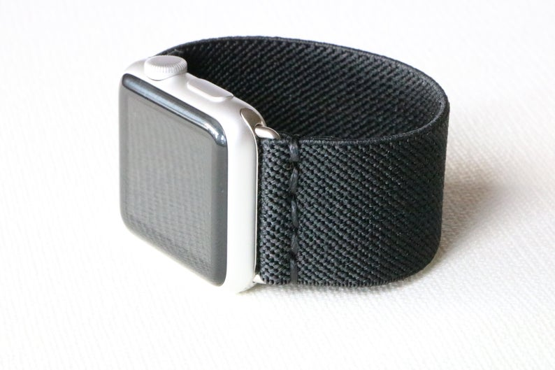 Armband für Apple Watch Schwarz Boho Series 2, Series 3, Series 4, Series 5 38mm 40mm 42mm 44mm