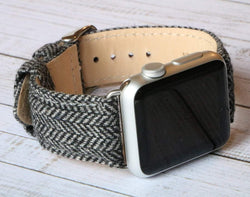 Handgefertigt Armband aus Harris Tweed schottische Wolle Armband Band für Apple Watch 3, 4, 5. 40mm 44mm 38mm 42mm iWatch
