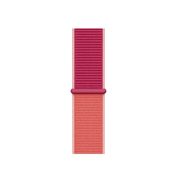 38/40/42/44mm Nylongewebe Sportband - Pomegranate - Loop