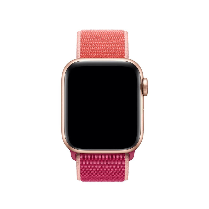 Sport Loop Armband für Apple Watch Pomegranate Pink Series 3 Series 4 Series 5 38mm 40mm 42mm 44mm