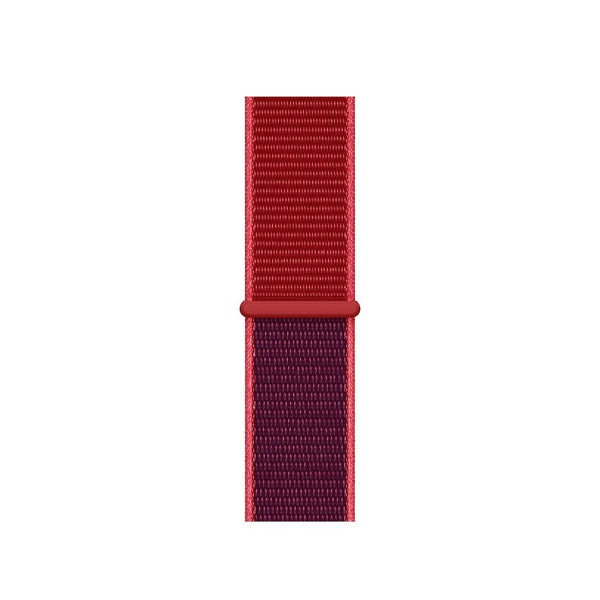 38/40/42/44mm Nylongewebe Sportband - Two-Tone Red Edition - Loop