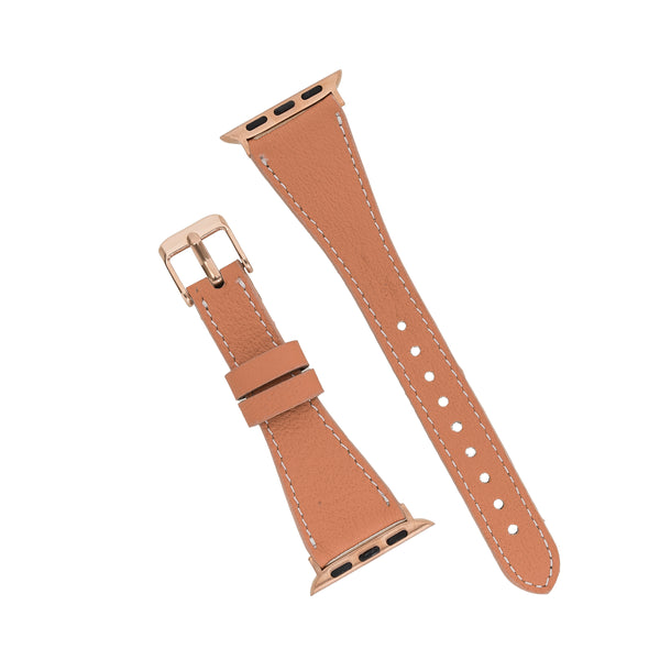 Apricot Brown Slim | Lederarmband für Apple Watch (Braun)