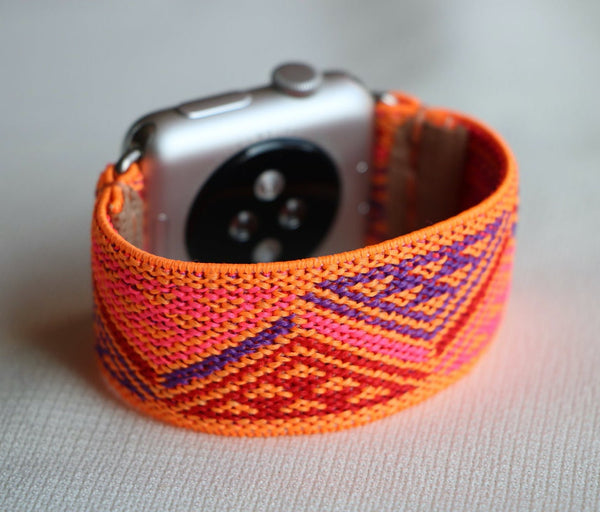 Armband für Apple Watch Orange Boho Series 2, Series 3, Series 4, Series 5 38mm 40mm 42mm 44mm