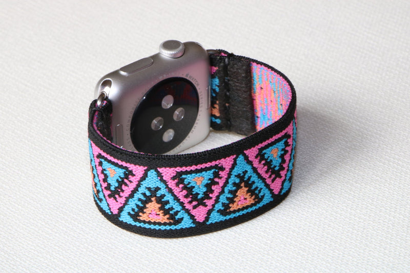 Armband für Apple Watch Pink Lila Boho Series 2, Series 3, Series 4, Series 5 38mm 40mm 42mm 44mm