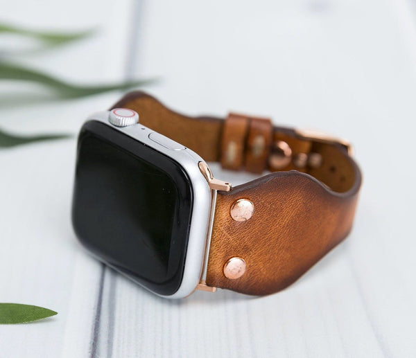 Western Slim Lederarmband Damen Leder Band für Apple Watch 3, 4, 5. 40mm 44mm 38mm 42mm iWatch