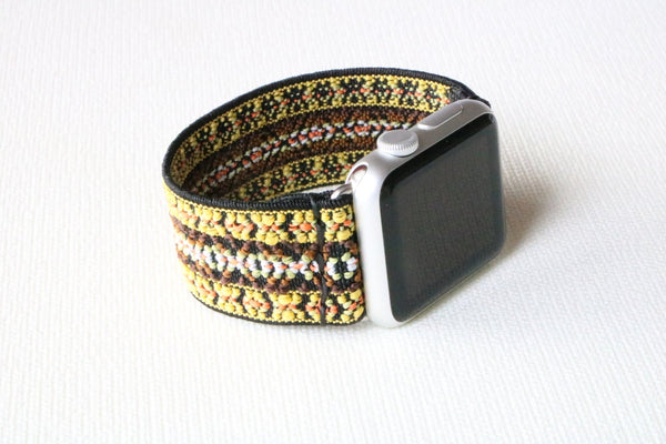 Yellow Orchid Armband Band für Apple Watch 3, 4, 5. 44mm 42mm 38mm 40mm iWatch zubehör designer