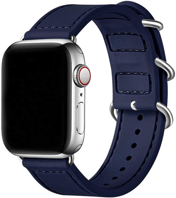 Blue Silikon Double Buckle | Armband für Apple Watch (Blau)