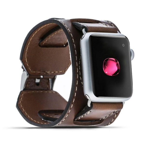 Antique Brown Cuff | Lederarmband für Apple Watch