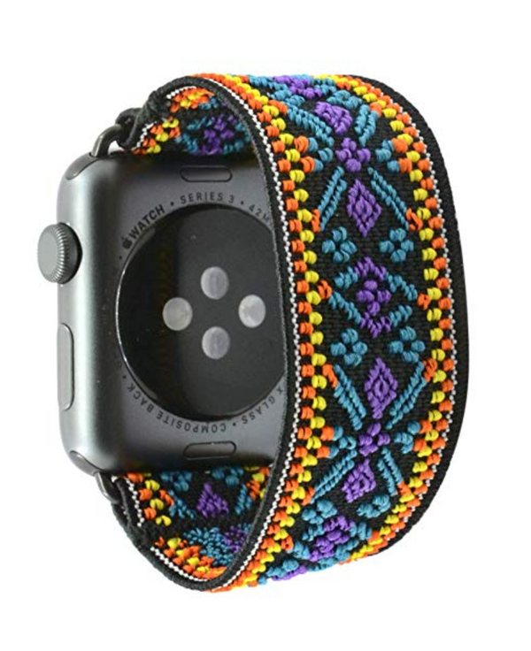 Blue Snow Elastic Armband Band für Apple Watch 3, 4, 5. 44mm 42mm 38mm 40mm iWatch zubehör designer