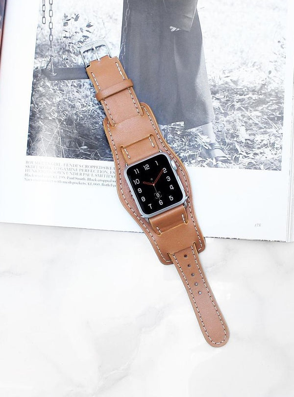 Tan Cuff | Lederarmband für Apple Watch (Braun)