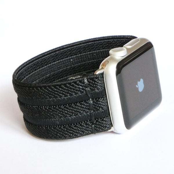 Black Elegance | Boho Armband für Apple Watch (Schwarz)