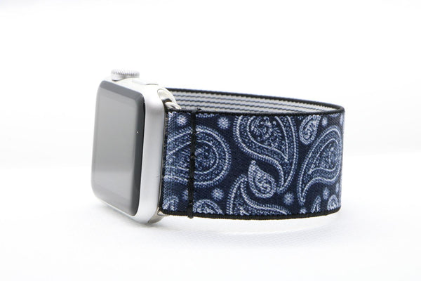 Blue Paisley | Boho Armband für Apple Watch (Blau)